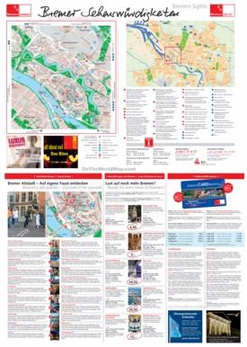 Bremen tourist attractions map