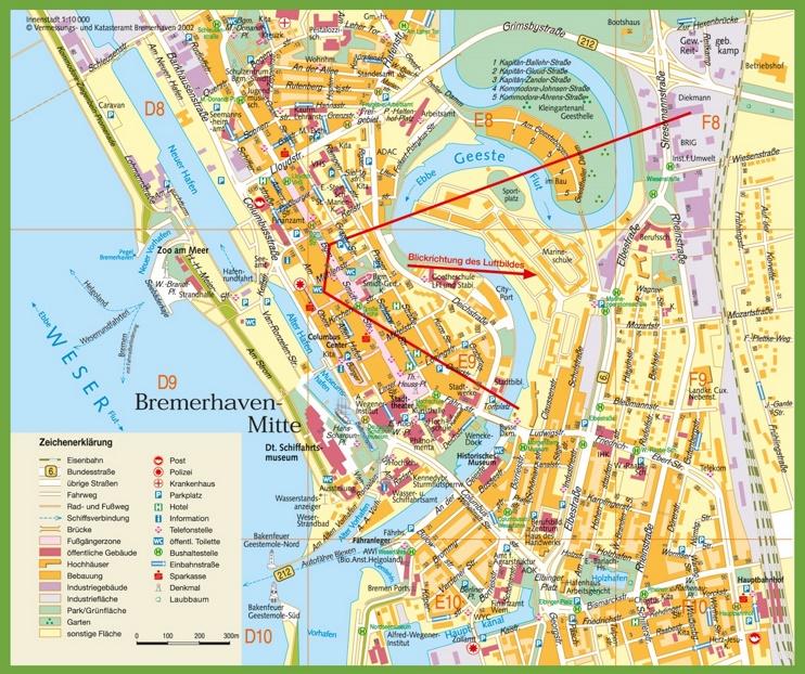 Bremerhaven city centre map