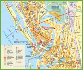 Bremerhaven city centre map