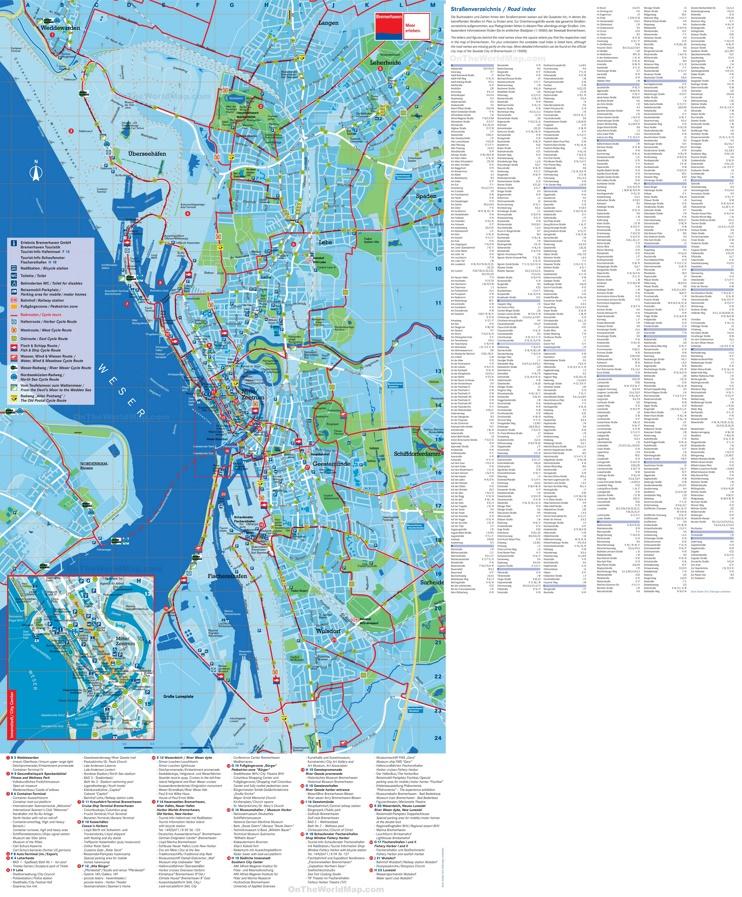 Bremerhaven Tourist Map