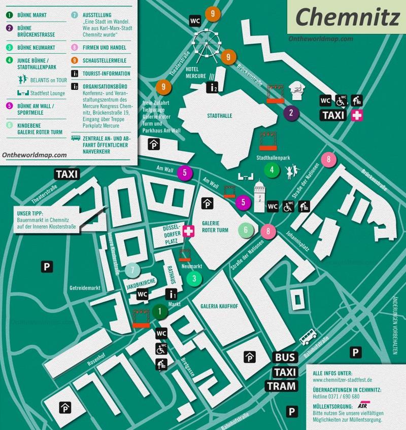 Chemnitz City Center Map