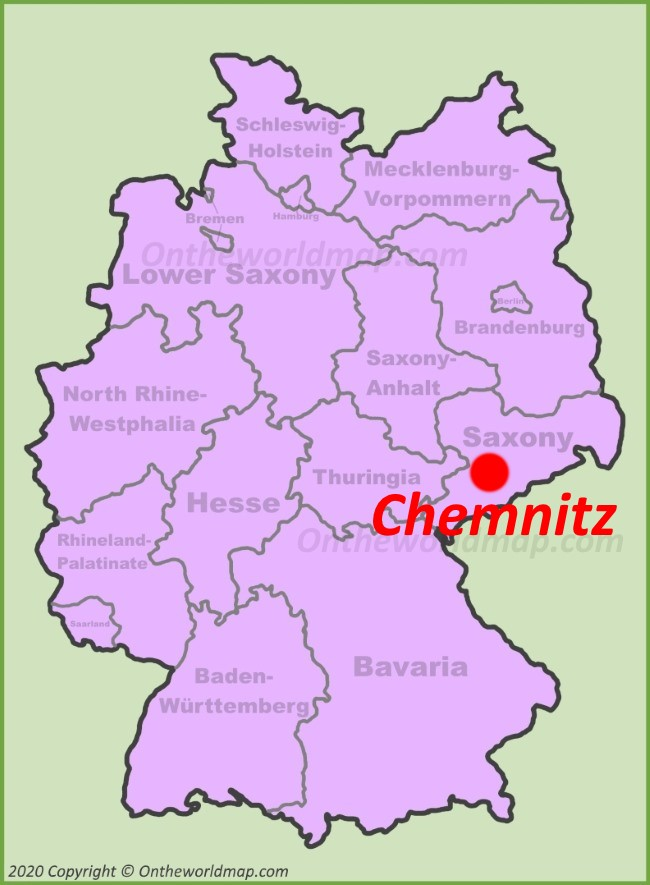 Chemnitz location on the Germany map