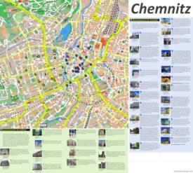 Chemnitz Tourist Map