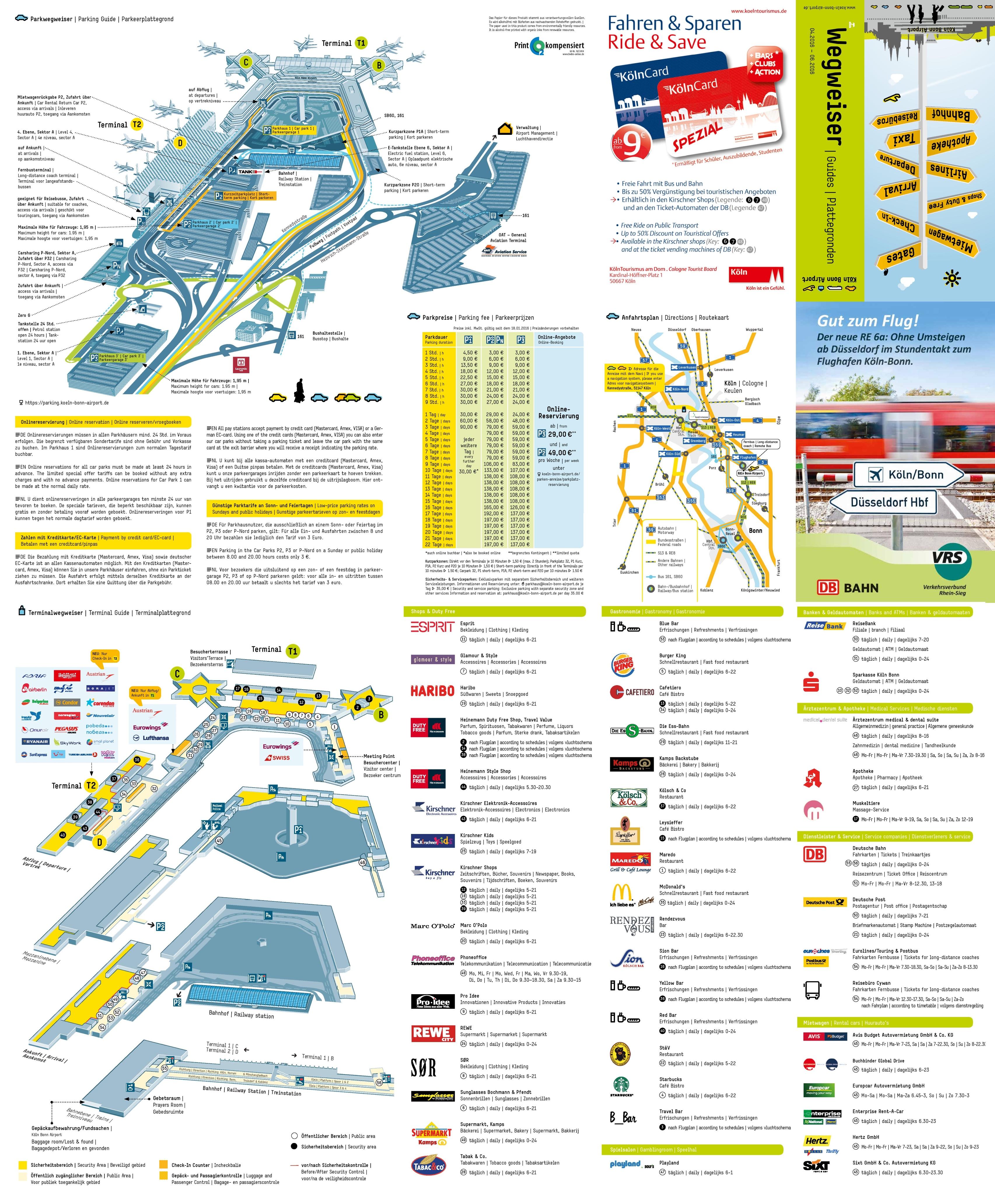 Cologne Bonn airport terminal map