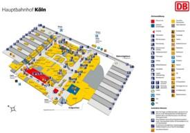 Cologne hauptbahnhof map