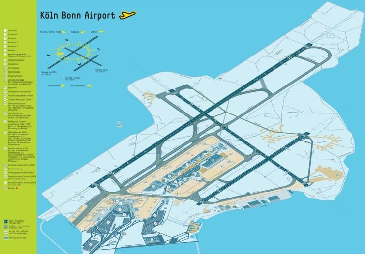 Köln Bonn airport map