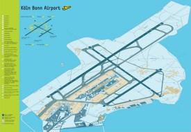 Köln Bonn airport map