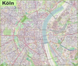 Large detailed map of Cologne