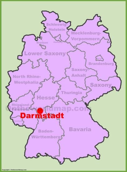 Darmstadt Location Map