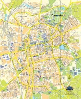 Darmstadt tourist map