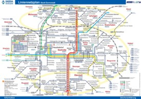 Darmstadt transport map