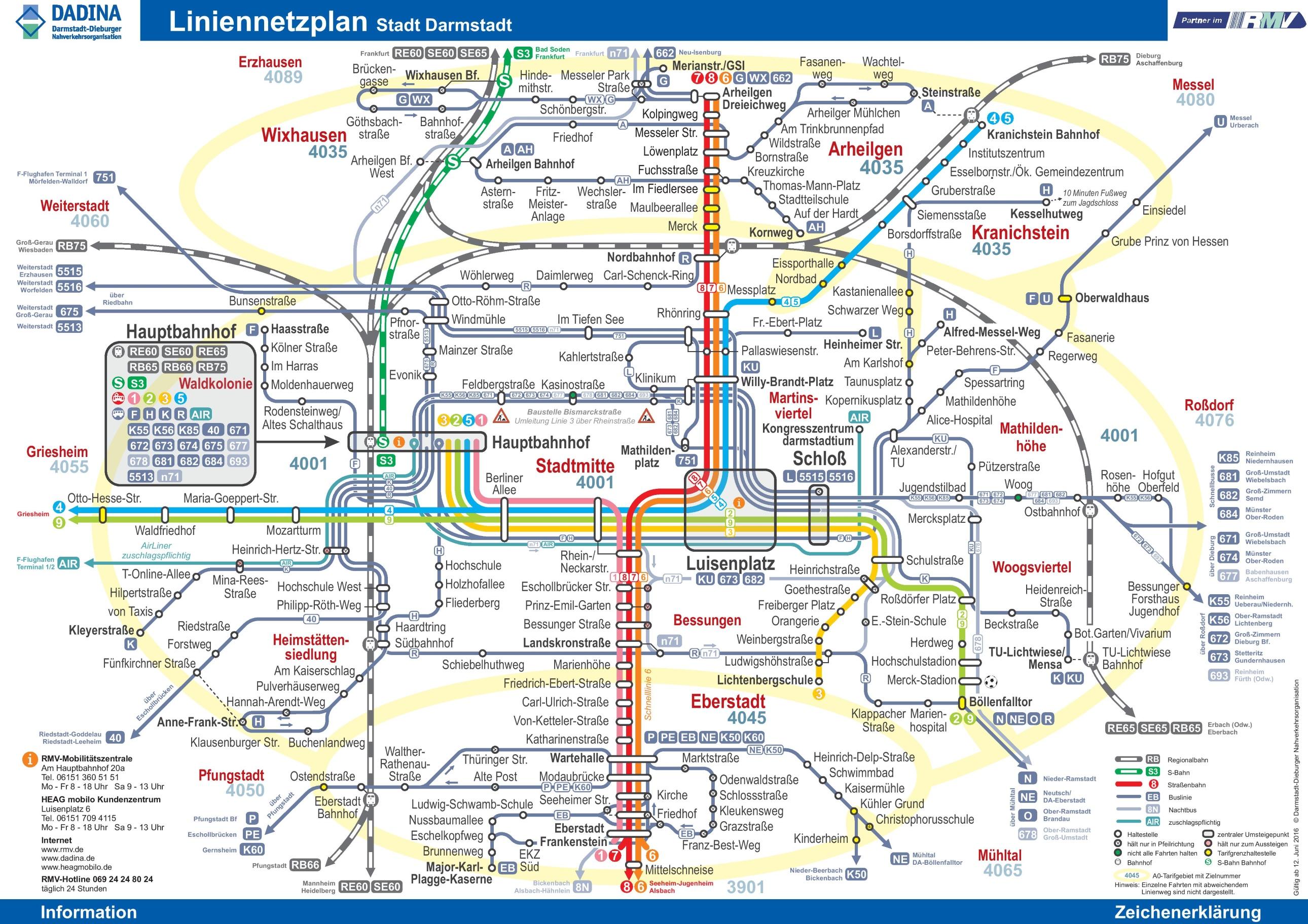 Darmstadt transport map