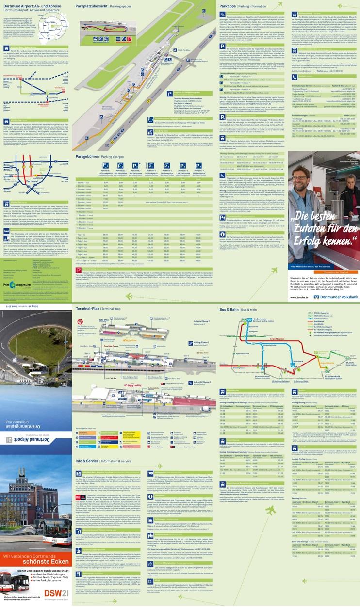 Dortmund airport map