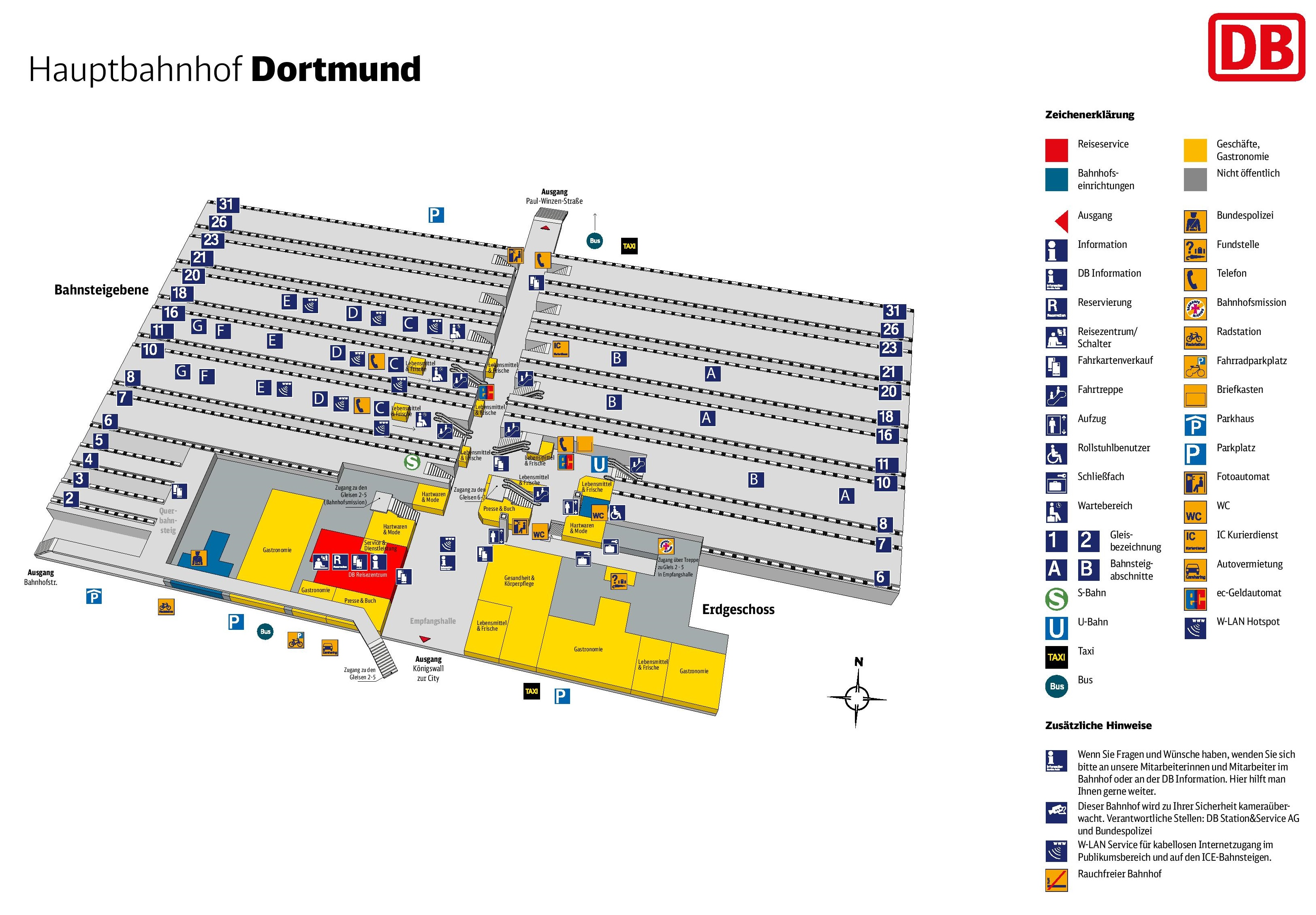dortmund hauptbahnhof map. Black Bedroom Furniture Sets. Home Design Ideas