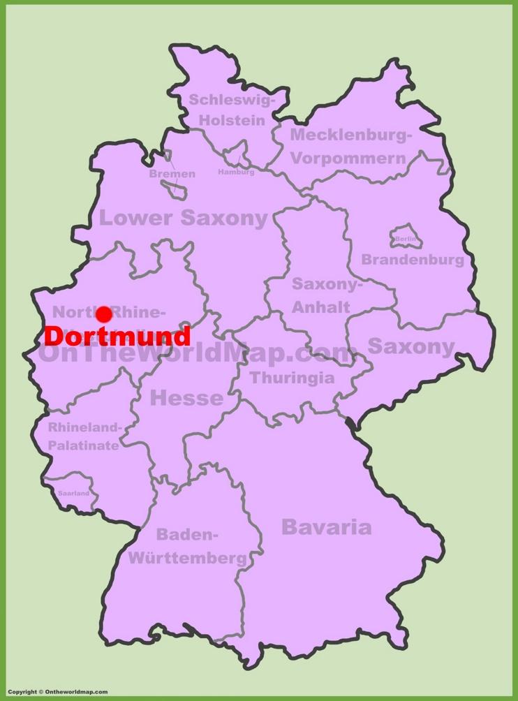 Dortmund location on the Germany map