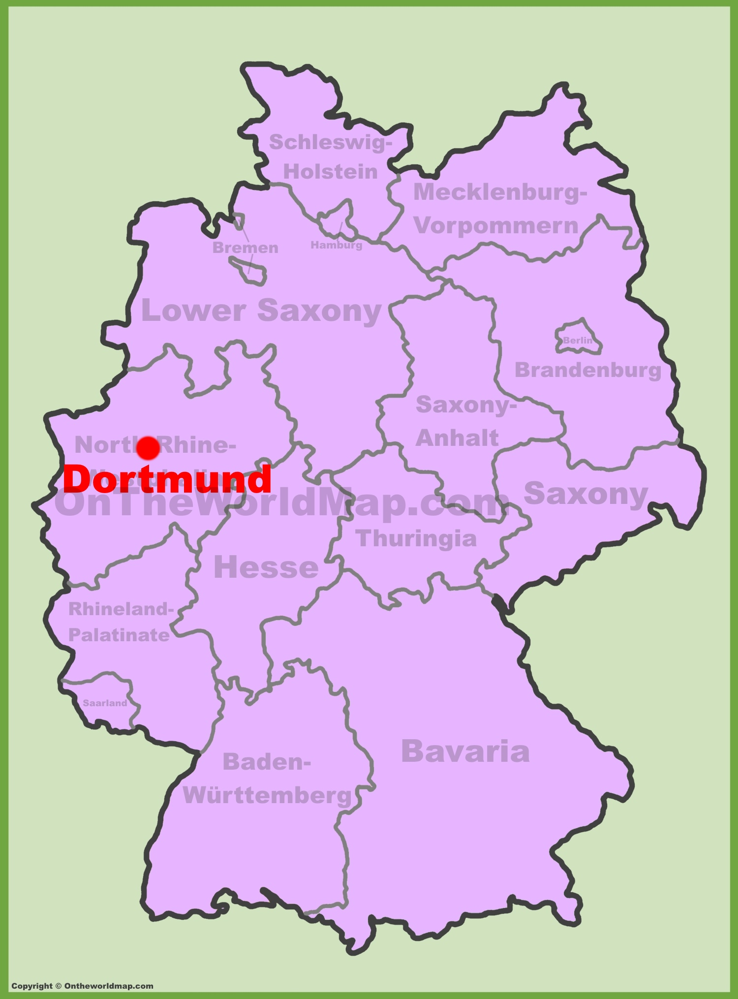 Dortmund Location On The Germany Map - Germany map dortmund