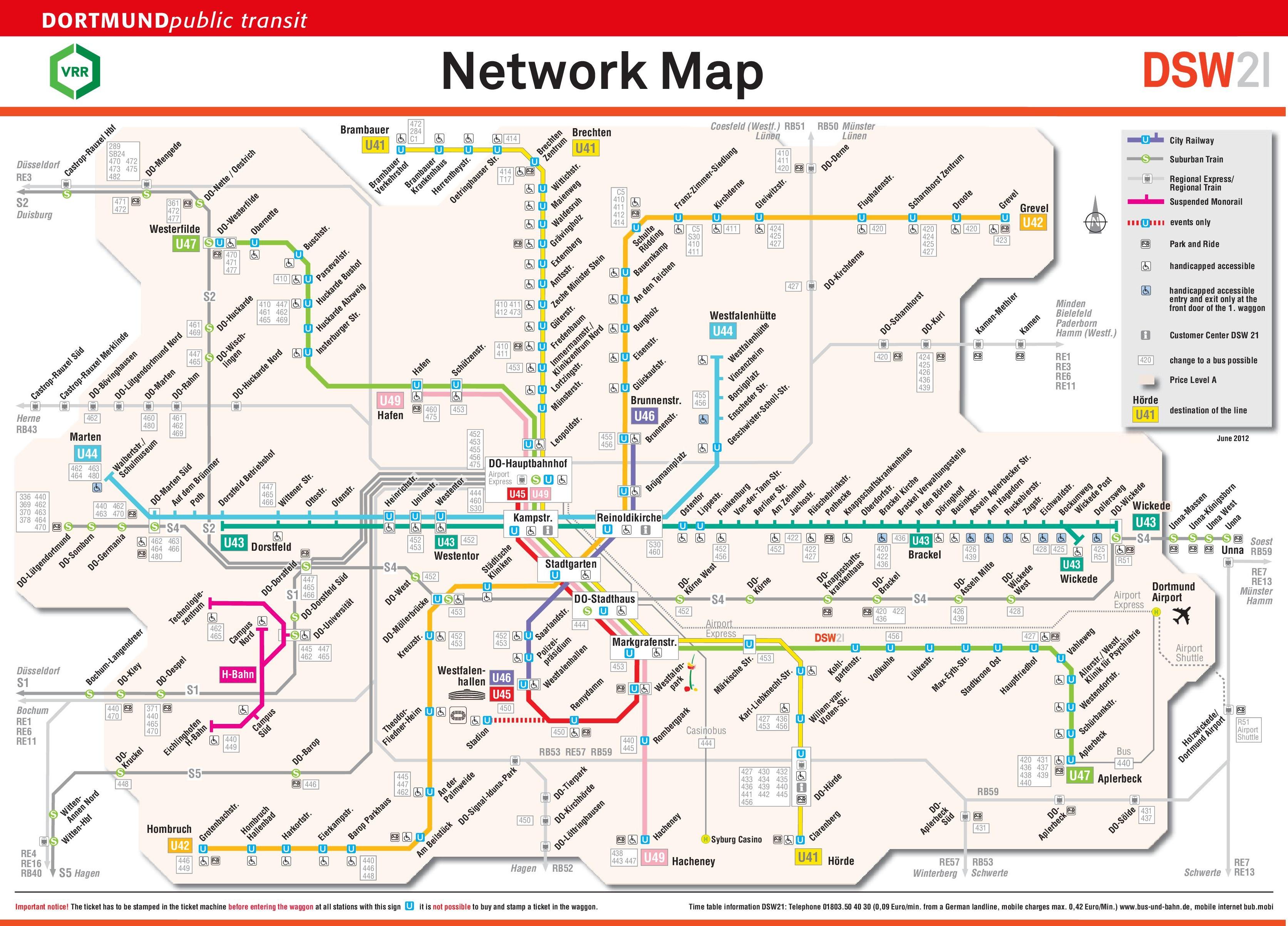 Dortmund rail map