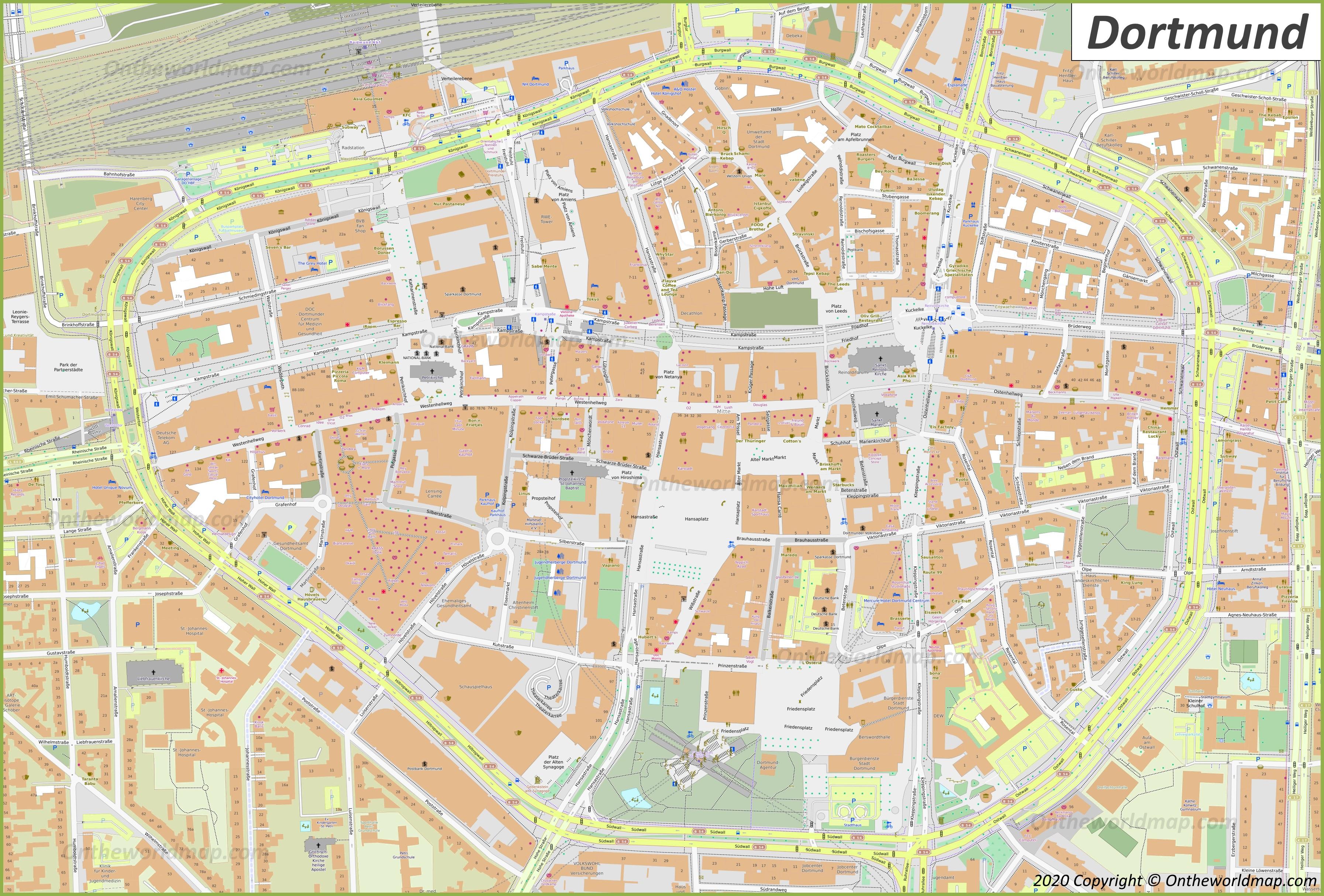 Dortmund Map Germany Maps Of Dortmund