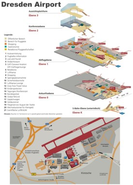 Dresden airport map