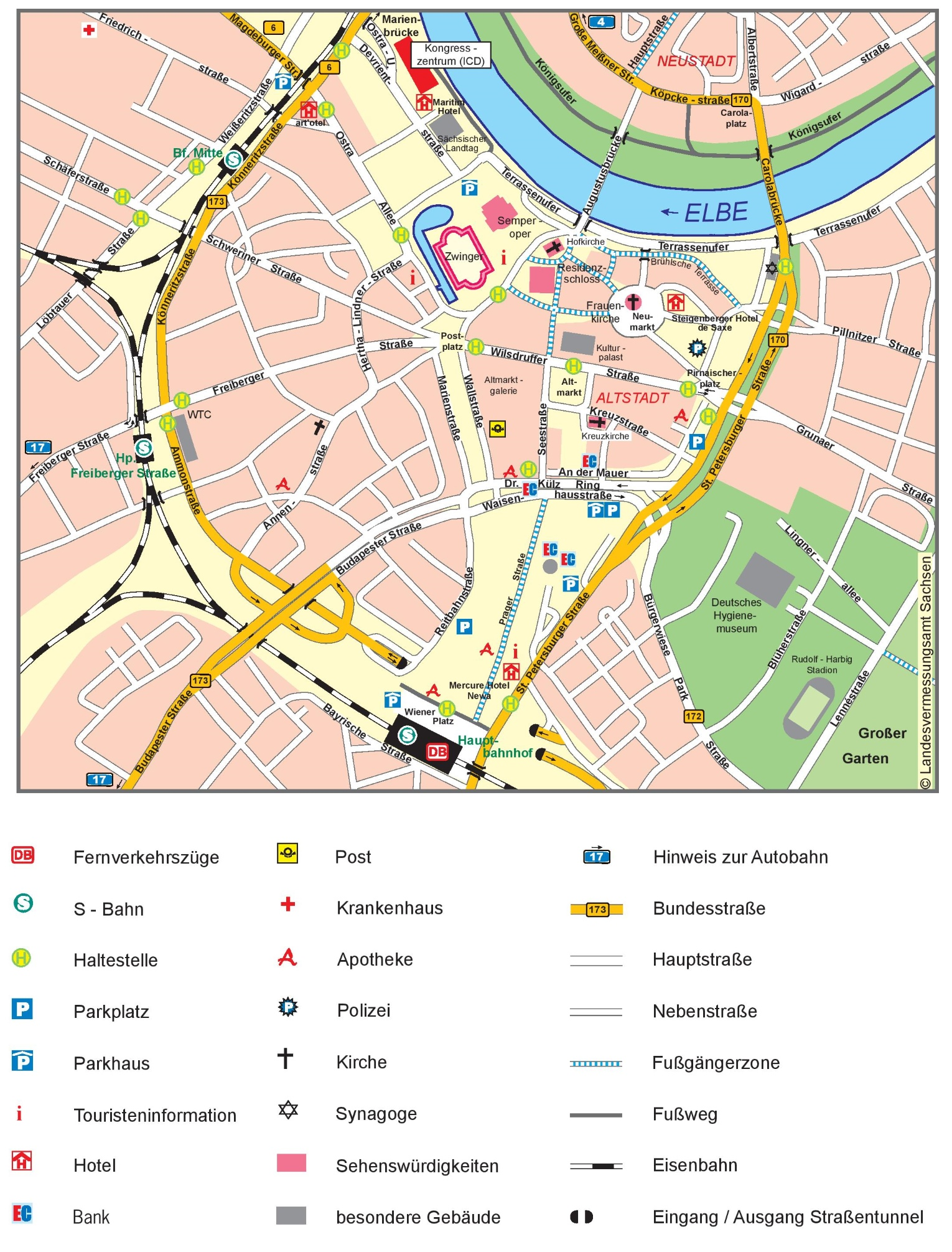 Dresden City Center Map