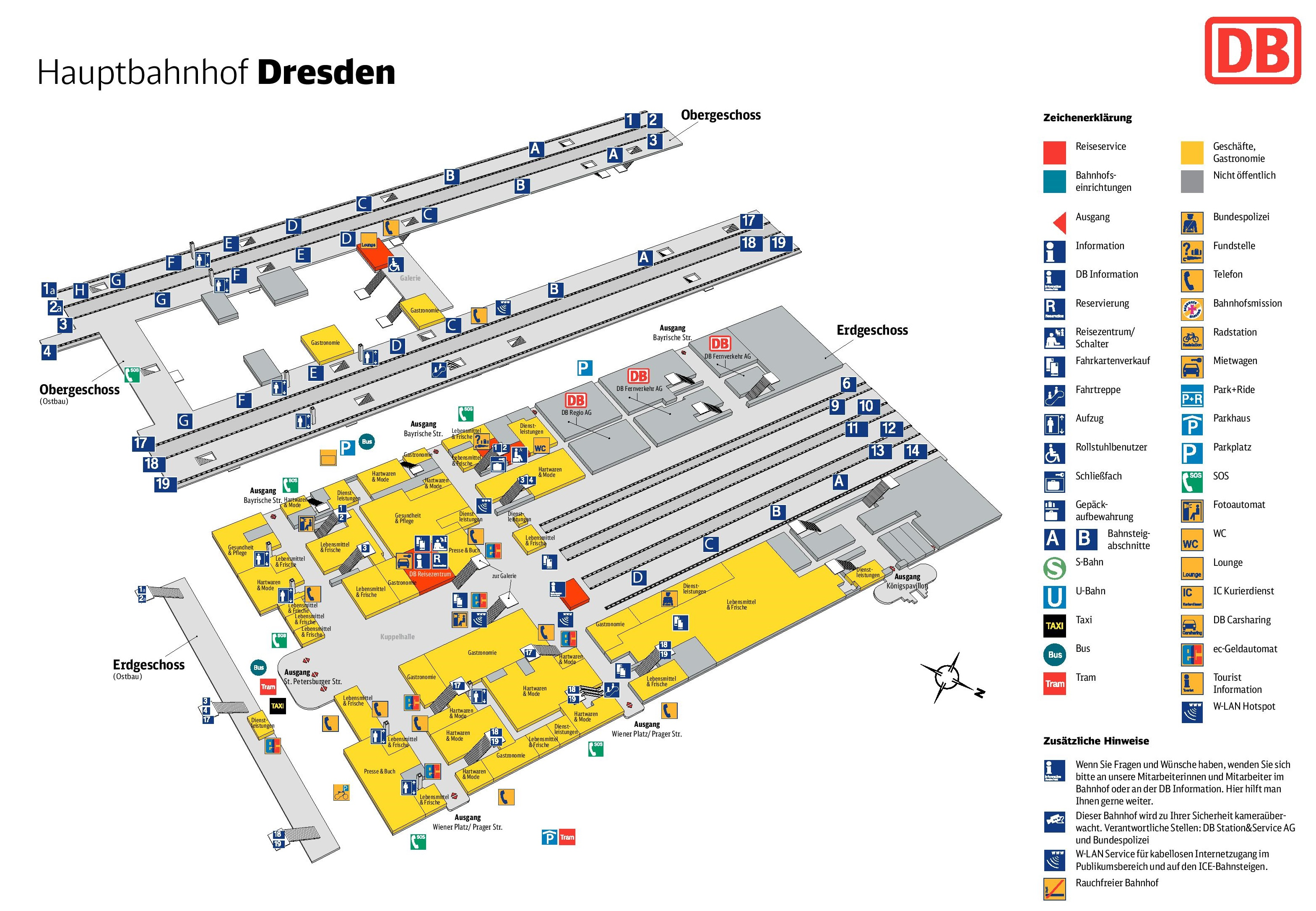 Dresden hauptbahnhof map central train station