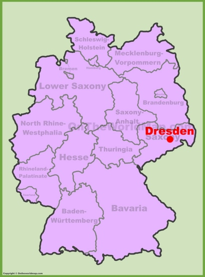 Dresden Location Map