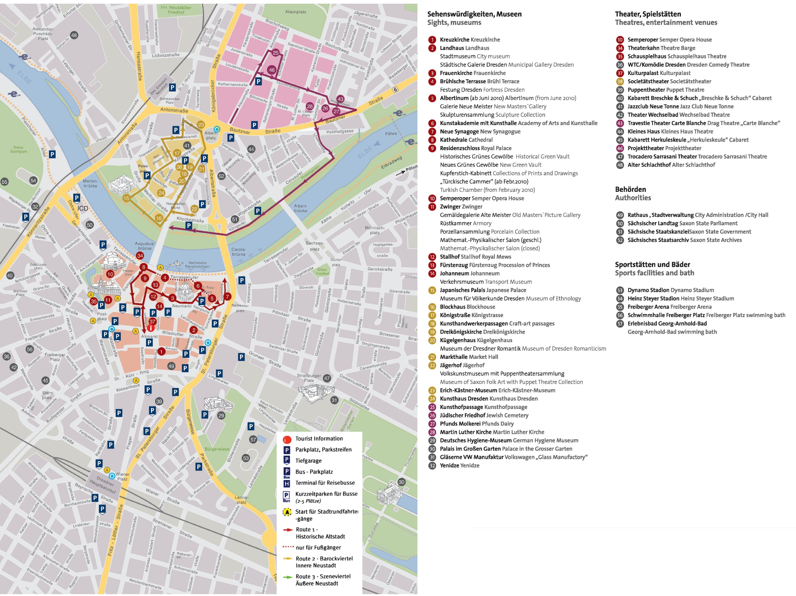 Dresden tourist attractions map – Germany Tourist Attractions Map