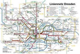 Dresden tram and bus map
