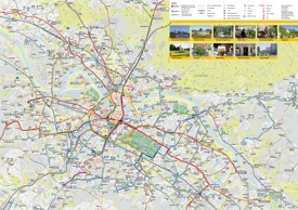 Dresden transport tourist map