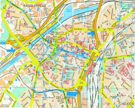 Duisburg city center map