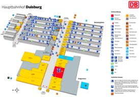 Duisburg hauptbahnhof map