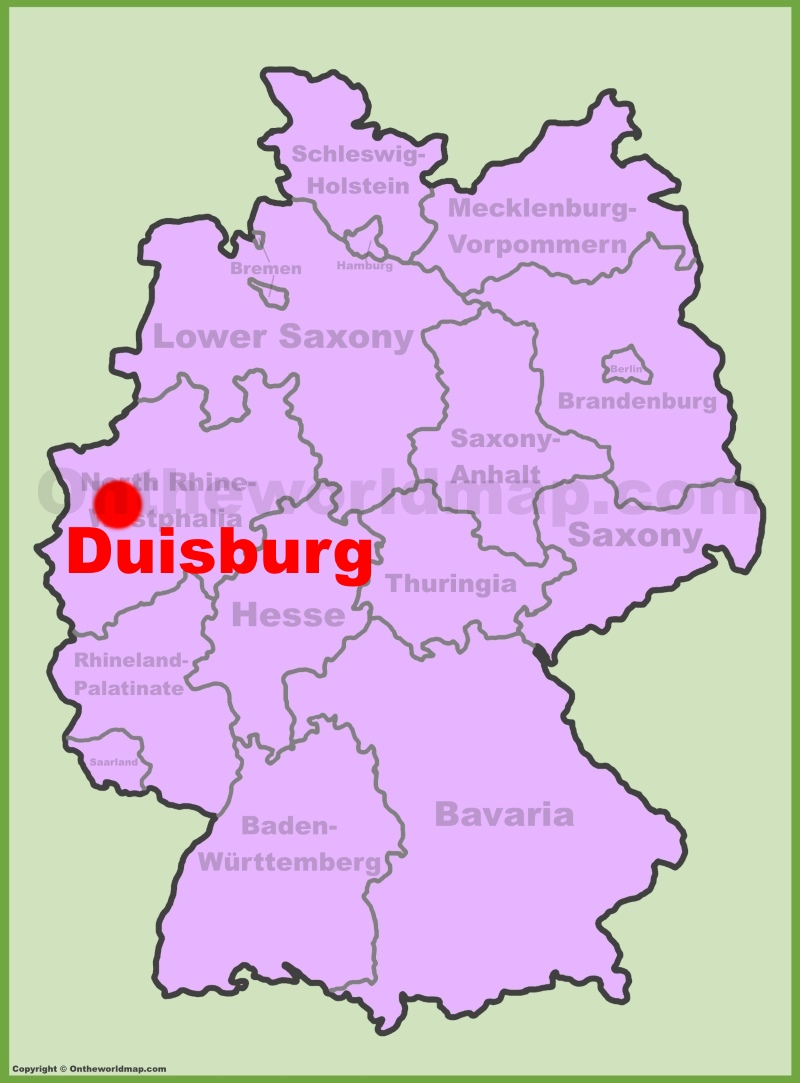 Duisburg location on the Germany map