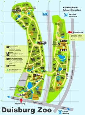 Duisburg Zoo map
