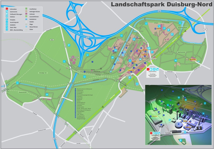 landschaftspark duisburg nord map. Black Bedroom Furniture Sets. Home Design Ideas