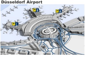 Düsseldorf airport map