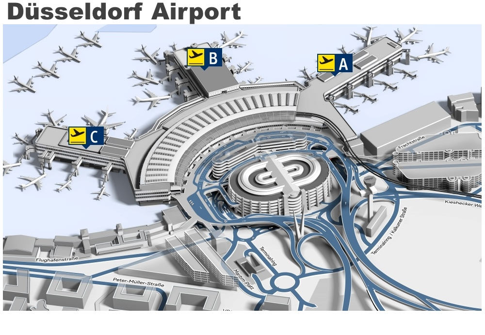 Dsseldorf airport map