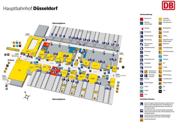 d sseldorf hauptbahnhof map central train station. Black Bedroom Furniture Sets. Home Design Ideas