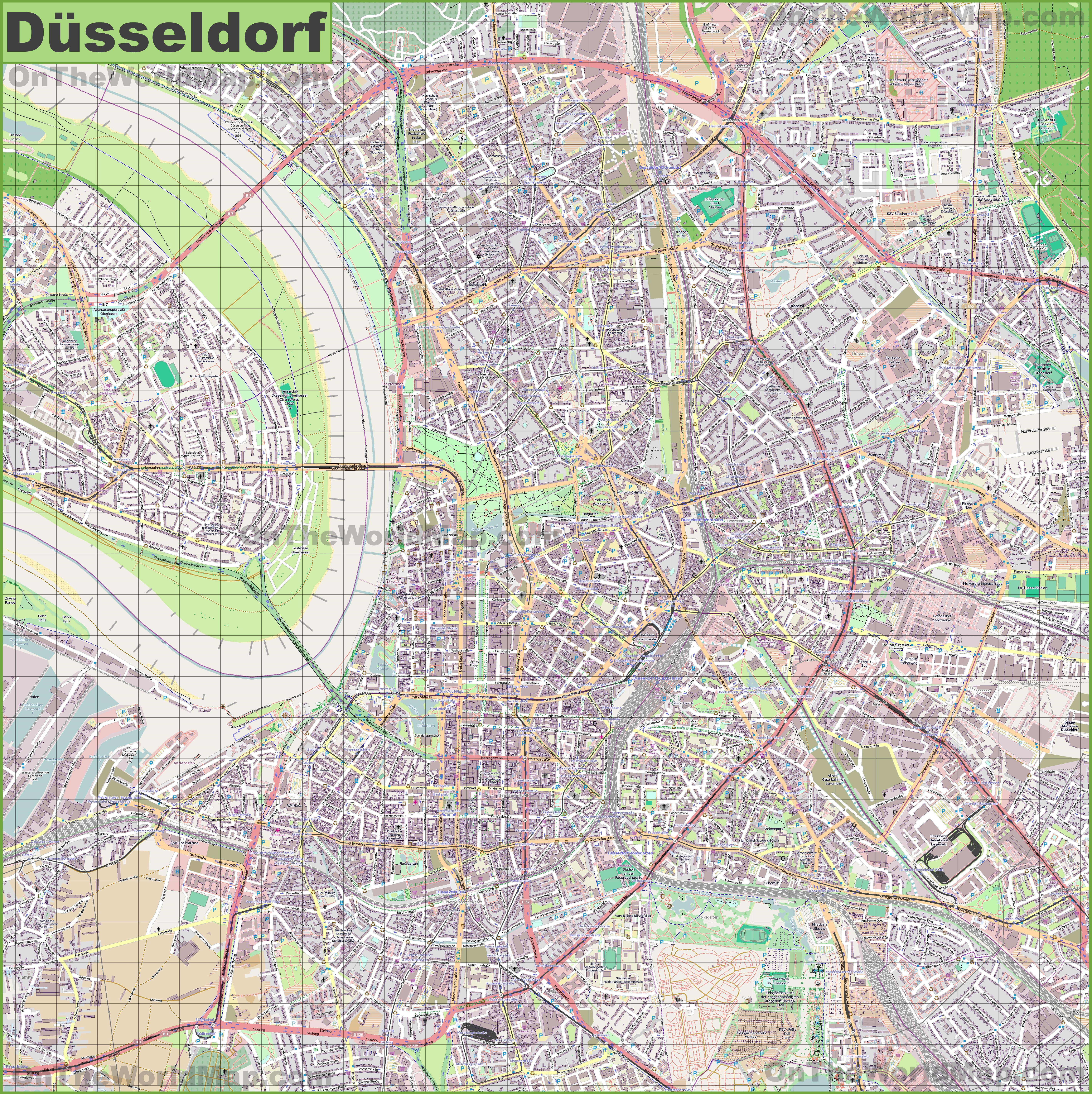 Dsseldorf Maps Germany Maps of Dsseldorf