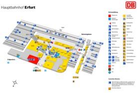 Erfurt hauptbahnhof map