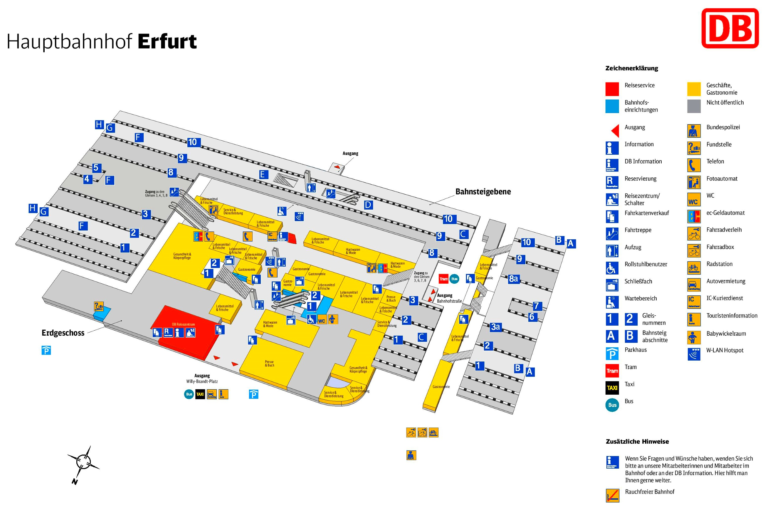 erfurt hauptbahnhof map. Black Bedroom Furniture Sets. Home Design Ideas