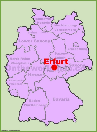 Erfurt Location Map