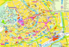 Erfurt tourist map