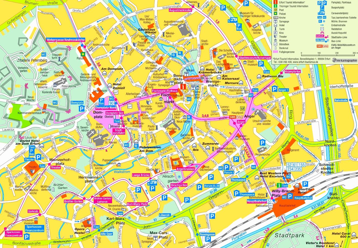Erfurt Germany Map Erfurt tourist map