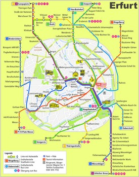 Erfurt transport map