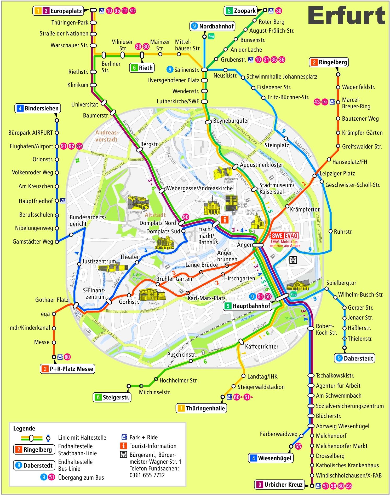 Erfurt transport map