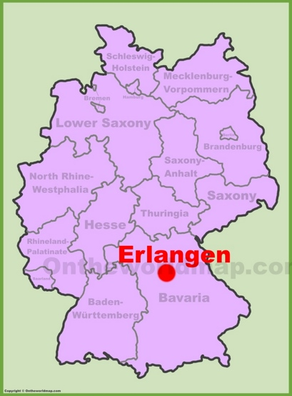Erlangen Location Map
