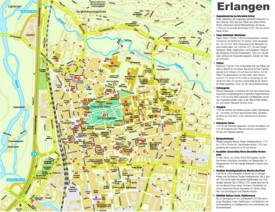 Erlangen sightseeing map