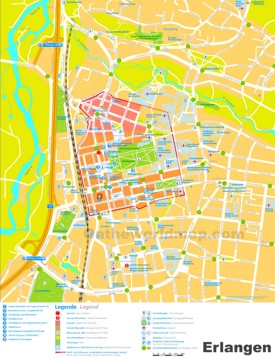 Erlangen tourist map