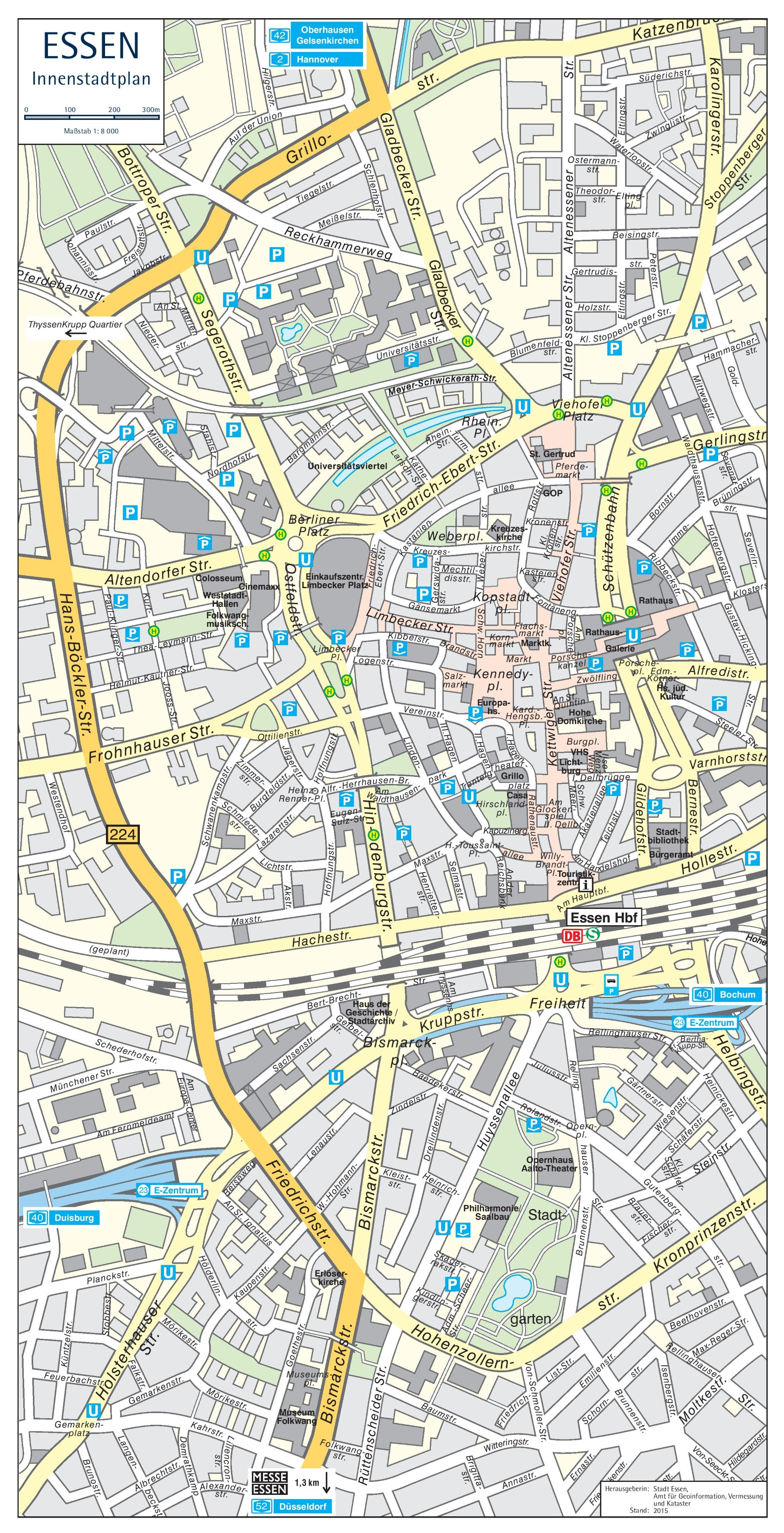Essen city center map