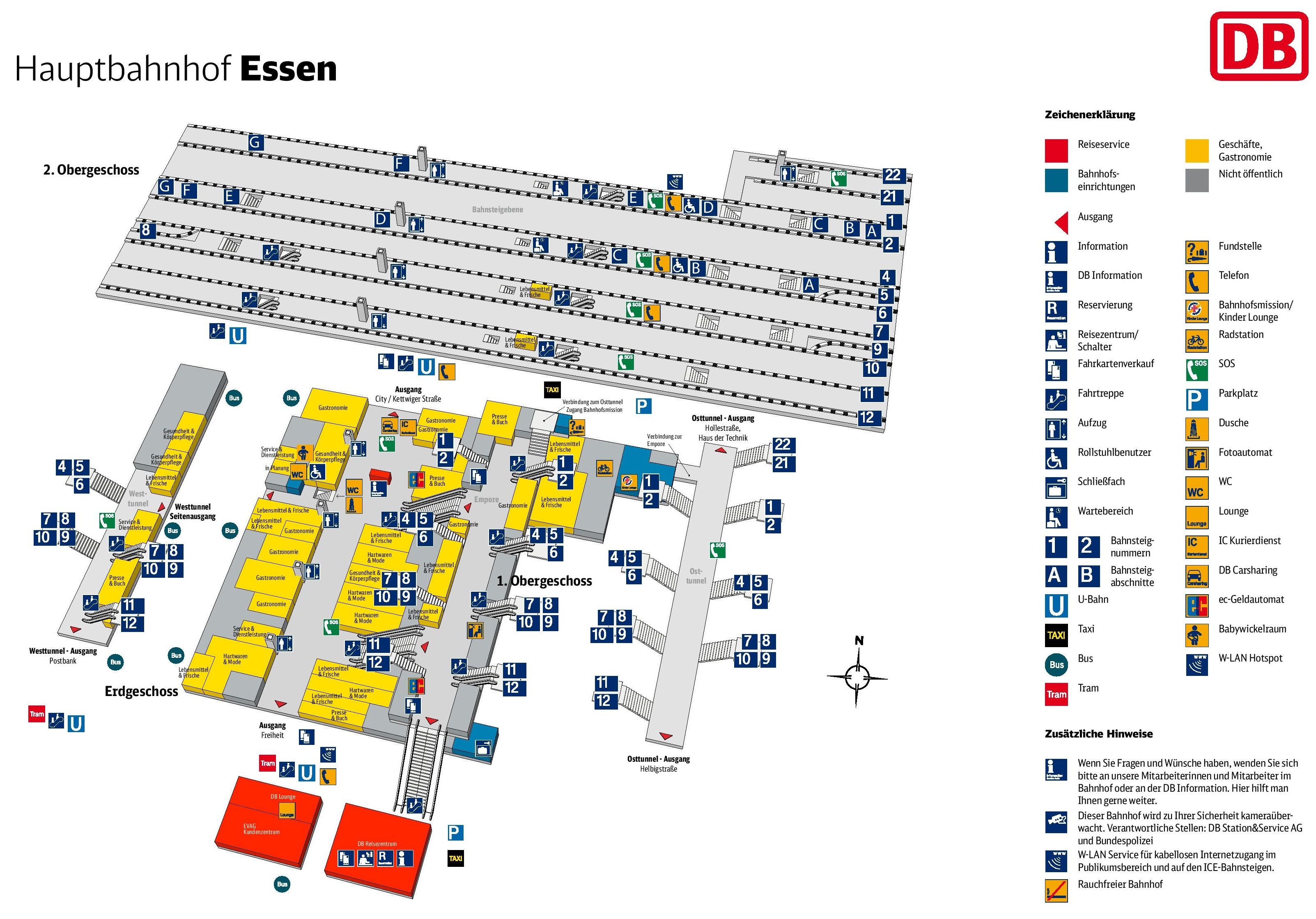 essen hauptbahnhof map central train station. Black Bedroom Furniture Sets. Home Design Ideas
